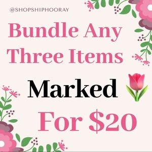 3 items for $20!